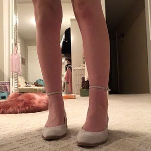 Jeffrey Campbell White Suede Ankle Strap Shoe